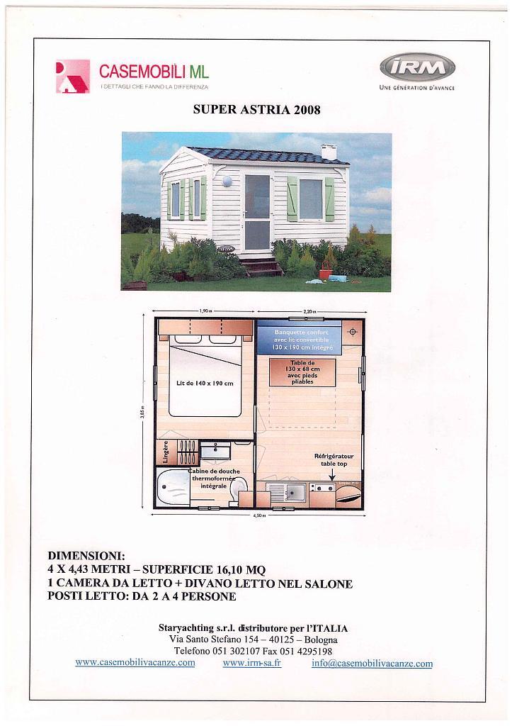 Le plan de la maison mobile astria camping dolcevita for Le plan de la maison